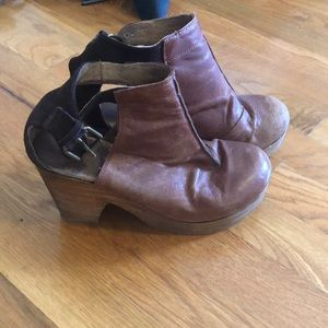 Vintage leather platforms